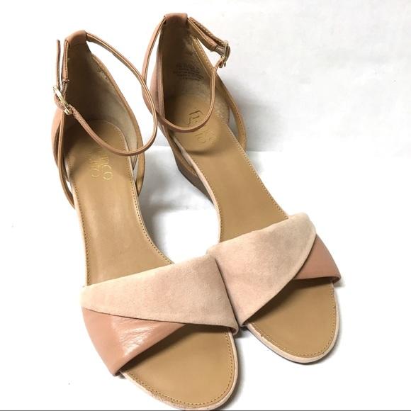 1667308afc Franco Sarto Shoes   Deirdra Blush Suede Wedge Sandals 95   Poshmark